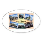Camp Beale California Oval Sticker