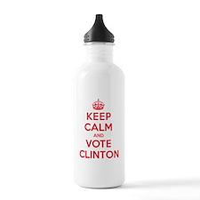 K C Vote Clinton Water Bottle