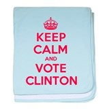 K C Vote Clinton baby blanket