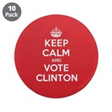 "K C Vote Clinton 3.5"" Button (10 pack)"