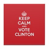 K C Vote Clinton Tile Coaster