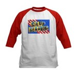 Camp Blanding Florida (Front) Kids Baseball Jersey