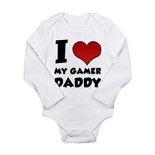 I Heart My Gamer Daddy! Long Sleeve Infant Bodysui