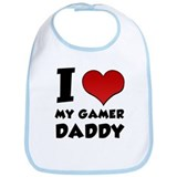 I Heart My Gamer Daddy! Bib