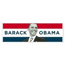 Barack Obama (Red, White Blue with Image) Bumper Sticker