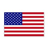 Small American Flag Rectangle Car Magnet