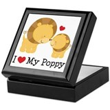I Heart My Poppy Keepsake Box