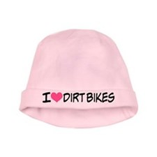 I Heart Dirt Bikes Pink Baby Hat