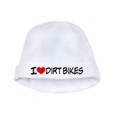 I Love Dirt Bikes Baby Hat