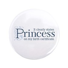 "Princess Certificate 3.5"" Button"