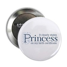 "Princess Certificate 2.25"" Button"