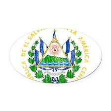 El Salvador Coat Of Arms Oval Car Magnet