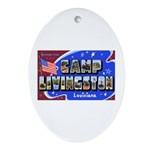 Camp Livingston Louisiana Oval Ornament