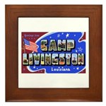 Camp Livingston Louisiana Framed Tile