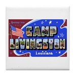 Camp Livingston Louisiana Tile Coaster