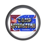 Camp Livingston Louisiana Wall Clock
