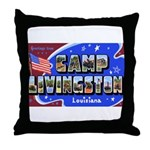 Camp Livingston Louisiana Throw Pillow