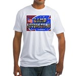 Camp Livingston Louisiana (Front) Fitted T-Shirt