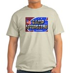 Camp Livingston Louisiana (Front) Ash Grey T-Shirt