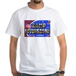 Camp Livingston Louisiana (Front) White T-Shirt