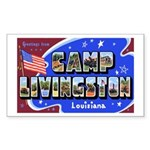 Camp Livingston Louisiana Rectangle Sticker