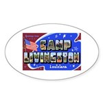 Camp Livingston Louisiana Oval Sticker