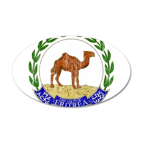 Eritrea Coat Of Arms 20x12 Oval Wall Decal