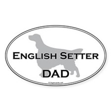 English Setter DAD Oval Decal