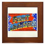 Fort Jackson South Carolina Framed Tile