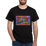 Fort Jackson South Carolina (Front) Black T-Shirt