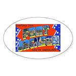 Fort Jackson South Carolina Oval Sticker