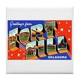 Fort Sill Oklahoma Tile Coaster