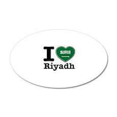 I Love Riyadh 20x12 Oval Wall Decal
