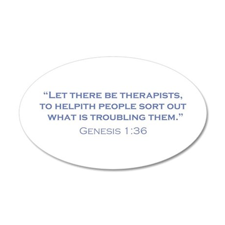Therapists / Genesis 35x21 Oval Wall Decal
