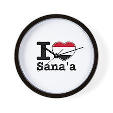 I Love Sanaa Wall Clock