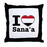 I Love Sanaa Throw Pillow
