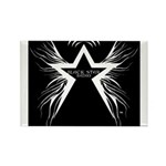 Black Star Radio Black Rectangle Magnet (10 pack)