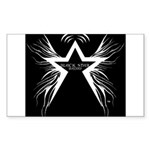 Black Star Radio Black Sticker (Rectangle)