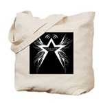 Black Star Radio Black Tote Bag