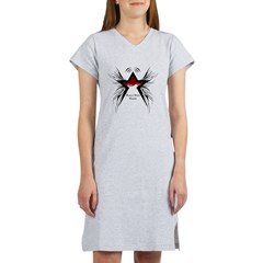 Black Star Logo White Women's Nightshirt