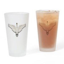 Beadwork Mute Swan Drinking Glass