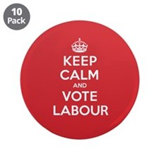 "K C Vote Labour 3.5"" Button (10 pack)"