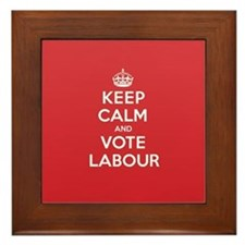K C Vote Labour Framed Tile