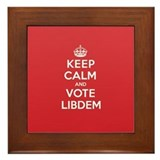 K C Vote Libdem Framed Tile