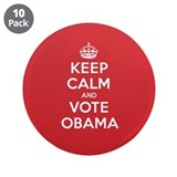 "K C Vote Obama 3.5"" Button (10 pack)"