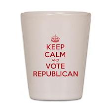 K C Vote Republican Shot Glass