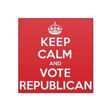 "K C Vote Republican Square Sticker 3"" x 3"""