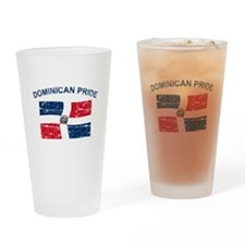 Dominican Pride Drinking Glass
