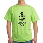 Keep Calm and Chant Om Green T-Shirt