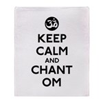 Keep Calm and Chant Om Throw Blanket
